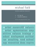 Business Card & Brand Identity: Michael Field Marketing. (2008)
