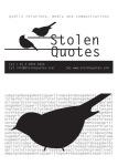 Business Card Design: Stolen Quotes. (2011)