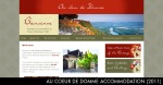 Domme France House Rental. Brief: Logo, Site design, SEO. URL: http://www.aucoeurdedomme.com