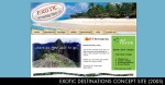 Exotic Destinations Travel Co Concept Site.