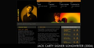 Singer/songriter and musician. Brief: Site design, SEO. URL: Site no longer online
