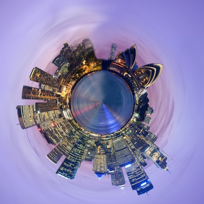 Photoshop Globe Planets Made From Panorama Cityscapes