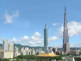 Taipei 101 mashed up with the Burj Khalifa and why did they change the name from Burj Dubai to Burj Khalifa?