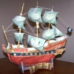Wicked Wench Paper Pirate Ship - By N.Hayter
