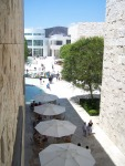 Getty Center: View from building bridge between South and West Pavillions