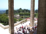 Getty Center: Garden Terrace Cafe and Dining Area overlooking Central Garden