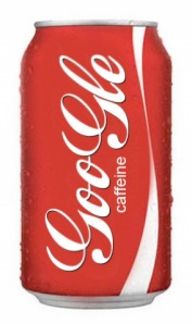 Google Caffeine Coke Can. By N.Hayter. 2010.