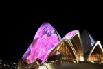 Sydney Vivid Light Festival - Sydney Opera House, Pink Coloured