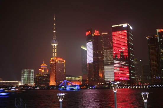 Shanghai City Skyline by Night - Pre Photoshop Editing. N. Hayter 2010