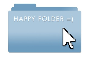 Corporate Email Happy Folder. N.Hayter 2010.