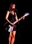 Susanna Hoffs of The Bangles with Rickenbacker Guitar Live in Sydney 2010. Photo:N.Hayter