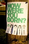 How Were You Born Street Art Concept - N.Hayter 2011