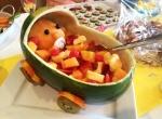 Baby Watermelon Carriage Pram. Baby Shower Food