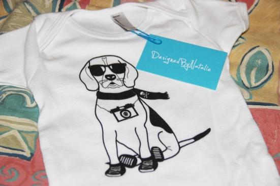 Hipster Beagle Baby Onesie
