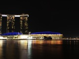 7000px wide High Resolution Singapore Marina Bay Sands Night Panorama
