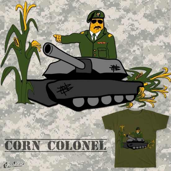 Corn Colonel Tee Design