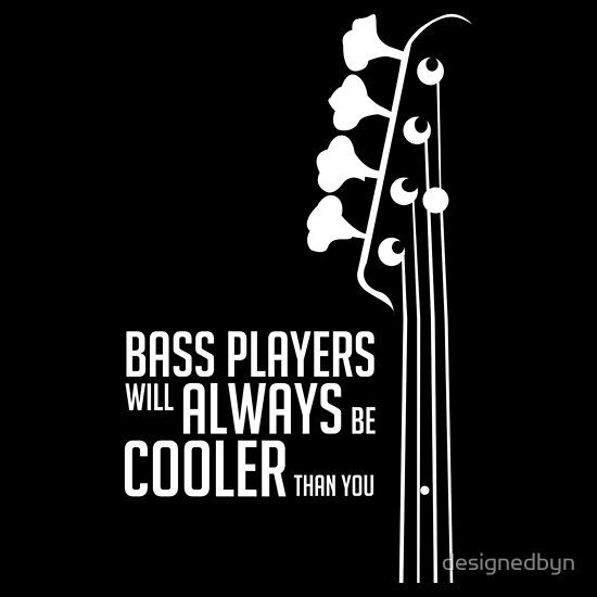 T-Shirts for Bass Players, Bass Guitarists, Bassists Tees ...